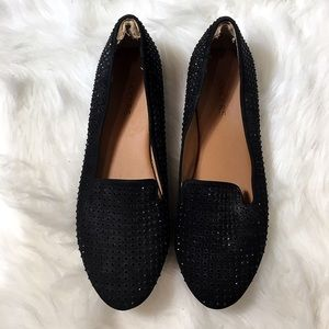 Bakers Sparkly Black Flats Size 9 - C1